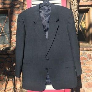 Jones New York Men's Dark Blue Wool Blazer